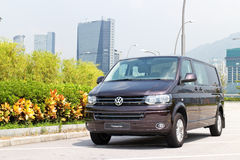 Volkswagen Transport 2014 test drive Royalty Free Stock Images