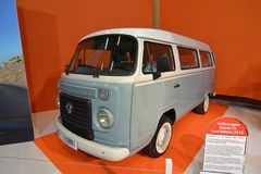 Paris Motor Show 2018 - Volkswagen T2 Kombi. The Volkswagen Type 2, known officially depending on body type as the Transporter, Kombi or Microbus, or, informally stock photos