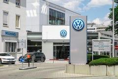 Volkswagen-Verkaufsstelle Stockbilder