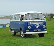 Volkswagen vintage touring club coastal. Photo of a vintage volkswagen on display at whitstable outdoor rally by tankerton slopes in kent april 15th 2018 royalty free stock images