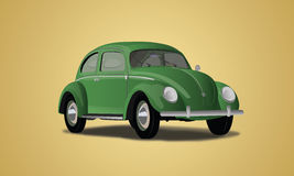 Volkswagen VW Classic Car Vector Royalty Free Stock Images