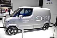 Volkswagen-VW eT! elektrische Vervoerder stock afbeeldingen