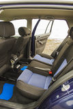 Volkswagen vw golf 4 back seats. Blue volkswagen golf 4 back seats Stock Images