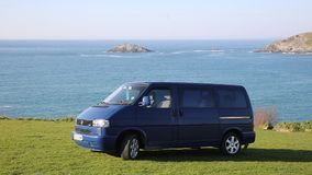 Volkswagen VW T4 Transporter coast of Cornwall England UK stock video
