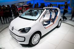 Volkswagen VW UP Car on IAA 2011 Royalty Free Stock Images