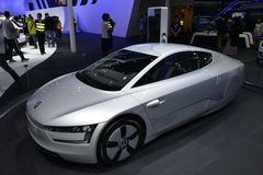 Volkswagen XL1 hybrid vehicle Royalty Free Stock Photo