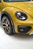 Volkswagen yellow new car headlight Royalty Free Stock Photo