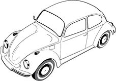 Volkswagon甲虫或臭虫 免版税库存照片