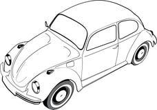 Volkswagon Beetle or Bug stock illustration