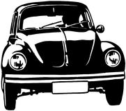 Volkswagon bug cartoon Vector Clipart Stock Photography