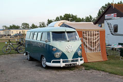 Volkswagon camper van Royalty Free Stock Photography