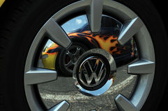 Volkswagon hub cap stock images