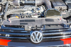Volkswagon Logo and Engine Stock Images