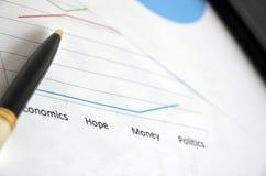 Volkswirtschafthoffnung und -geld Lizenzfreie Stockbilder