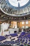Voll-Hall des deutschen Parlaments der Bundestag in Berlin Stockfoto