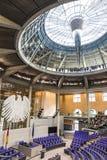 Voll-Hall des deutschen Parlaments der Bundestag in Berlin Stockfotografie