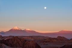 Voll-Mond im Mond-Tal Stockbild