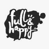 Voll und glücklich in einem Tinten-Fleck Stockbild
