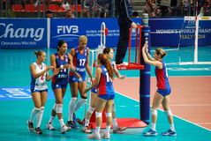 Vollayball Royaltyfria Foton