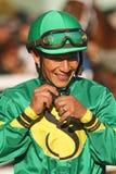 Vollblütiger Jockey Paco Lopez Stockbilder