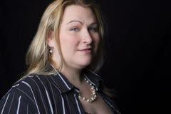 Volle Abbildung Frauenlächeln Lizenzfreies Stockfoto