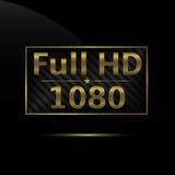 Volle HD-Ikone Stockfotografie