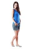 Volle Körperporträtfrau lizenzfreie stockbilder