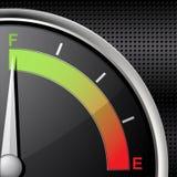 Volle Kraftstoffanzeige Lizenzfreies Stockbild