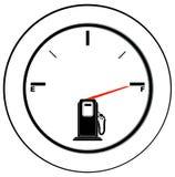 Volle Kraftstoffanzeige Lizenzfreie Stockfotos