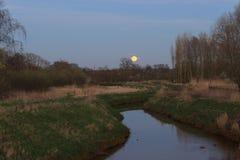 Volle maan in aard Stock Foto's