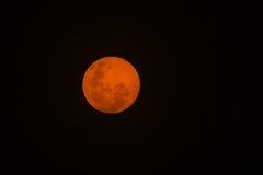 Volle maan - Aardachtergrond - Mooie Geheimzinnigheid Stock Foto's