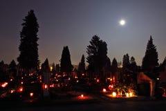 Volle maan bij Al Dag van Heiligen Stock Foto's