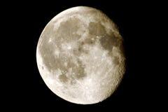 Maan met kraters Royalty-vrije Stock Foto's