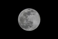 Volle maan op de donkere nacht Royalty-vrije Stock Afbeeldingen