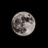 Volle maan op de donkere nacht Royalty-vrije Stock Foto