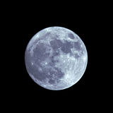 Volle maan op de donkere nacht Royalty-vrije Stock Foto's