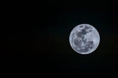 Volle maan op de donkere nacht Royalty-vrije Stock Fotografie