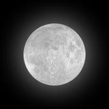 Volle maan op zwarte hemel stock afbeeldingen
