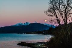 Volle maan Schotland Royalty-vrije Stock Foto