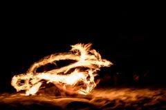 Volle maanbrand Stock Foto