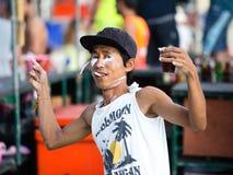 Volle maanpartij in Koh Phangan, Thailand. royalty-vrije stock foto's