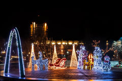 Volle Weihnachtsdekorationen Lizenzfreies Stockfoto