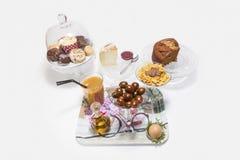 Volledig brunch of ontbijt Royalty-vrije Stock Afbeeldingen