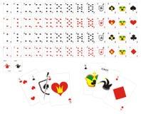 Volledig dek van speelkaarten Stock Afbeeldingen