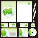 Volledig editable vector bedrijfsmalplaatjes geplaatst klaar Stock Afbeeldingen