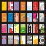 Volledig editable vectorbezoekkaarten met verschillend l Stock Fotografie