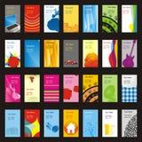 Volledig editable vectorbezoekkaarten met verschillend l Stock Foto
