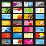 Volledig editable vectorbezoekkaarten met verschillend l Royalty-vrije Stock Foto