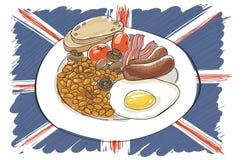 Volledig Engels ontbijt Stock Fotografie