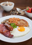 Volledig Engels ontbijt royalty-vrije stock afbeeldingen
